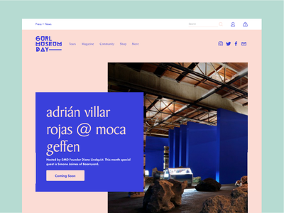 #GURLMuseumDay Website 2018