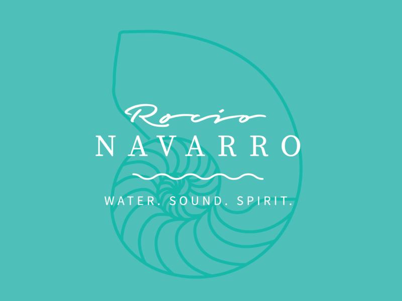 Rocio Navarro Branding rocio navarro soul body mind spirit sound water typography los angeles website identity graphic design graphic design logo branding