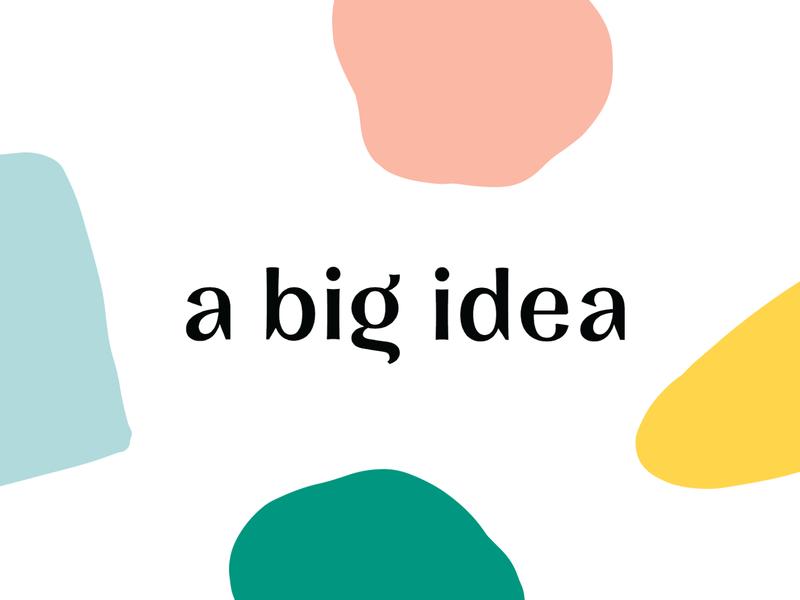 A Big Idea Logo modern minimal abstract pattern los angeles identity illustration graphic design branding graphic design logo