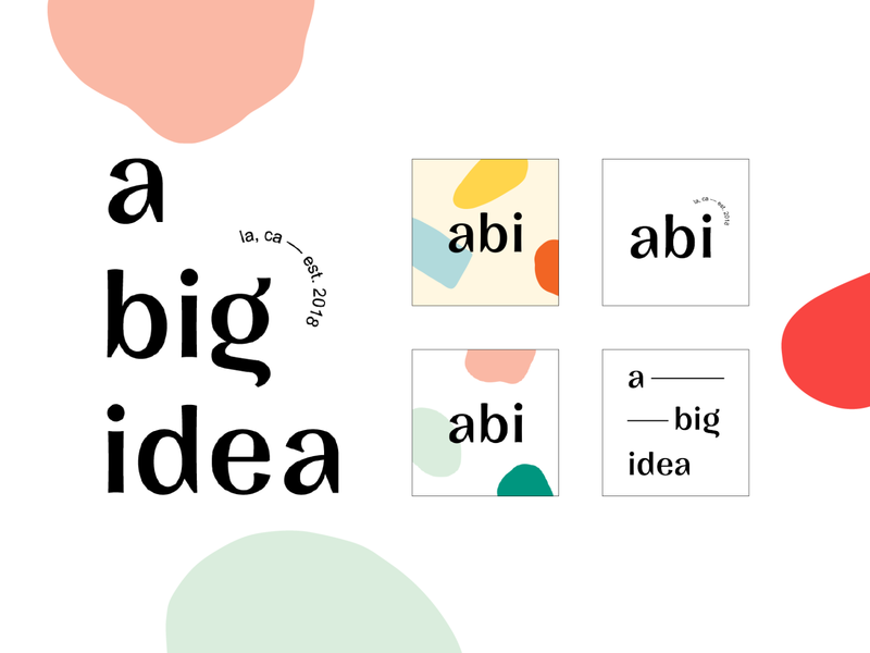 A Big Idea Logo Alternatives typography los angeles website icon identity logo branding graphic design graphic design