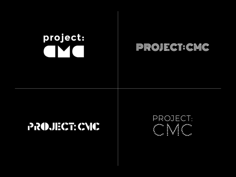 Project: CMC Logo Exploration art gallery gallery art project cmc typeface type letterform typography identity branding logo graphic design graphic design