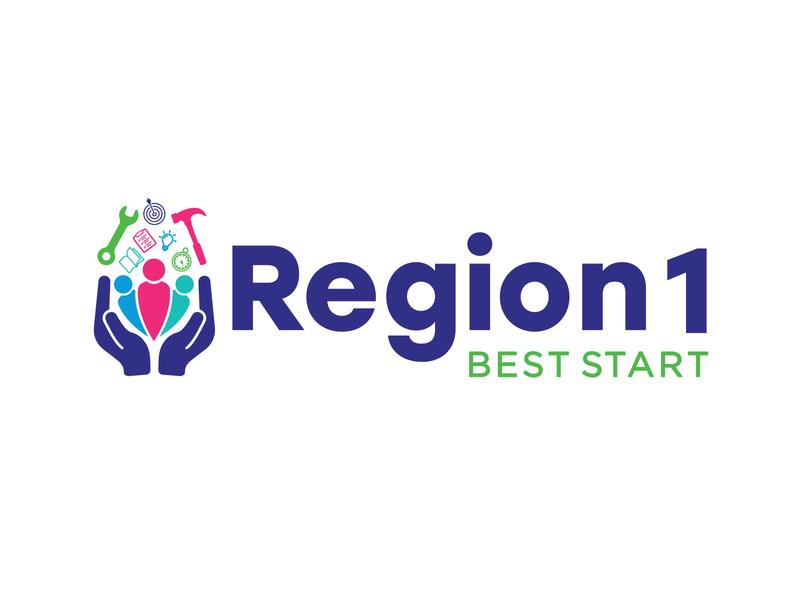 Region 1 Best Start Logo identity logo branding graphic design graphic design