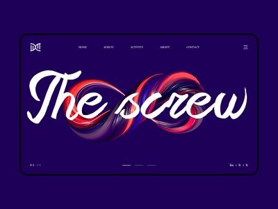 The screw_web design