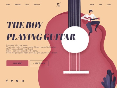 Play guitar_web design