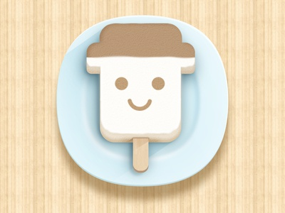 Realistic icon of ice cream