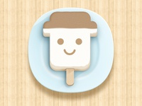 Realistic icon of ice cream