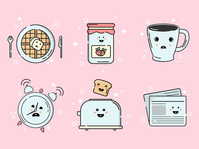 Cute Morning Icons