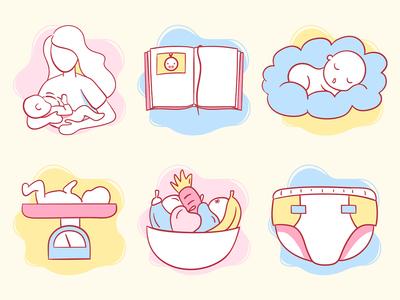 Baby Track App Icons
