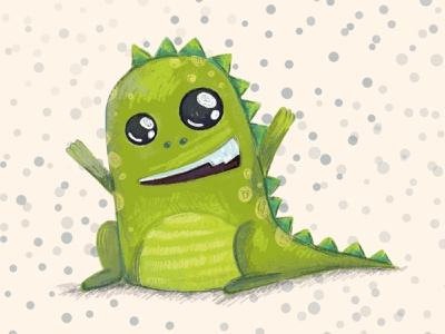 Little Dinosaur книжная иллюстрация динозавр иллюстрация