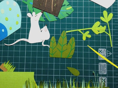 "Backstage ""Mice in the grass"" backstage мыши бумага дизайн бумажная иллюстрация книжная иллюстрация иллюстрация"