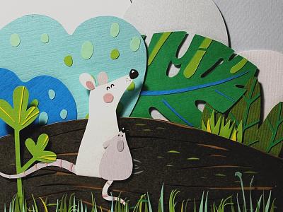 Mice фотография дизайн мыши бумага бумажная иллюстрация книжная иллюстрация иллюстрация