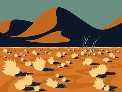 Namib Desert minimalism flat illustration digital illustration visual art graphic design flat minimalist minimal vector illustrator illustration