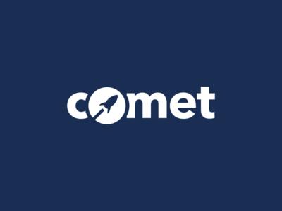 Daily logo challenge | Comet rocketship company logodesign illustrator design graphic typography brand identity logotype logo dailylogochallenge