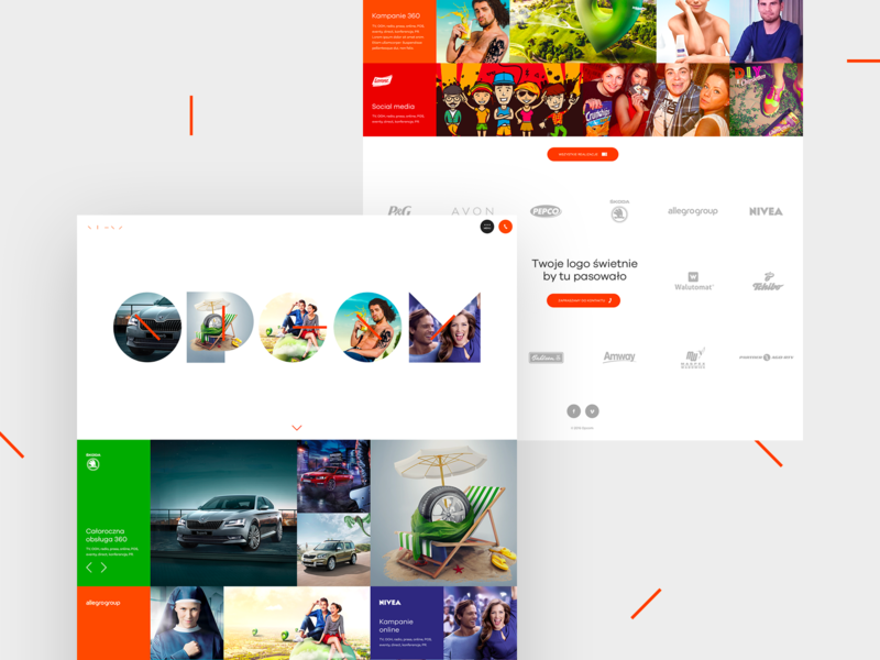 Opcom Website advertising 360 marketing portfolio agency web design webdesign website