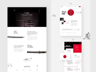 Yume Collection ui  ux product design website web design web ux ui
