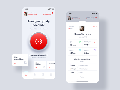 Callert - Life-saving app concept life emergency health mobile ui mobile ux app ui
