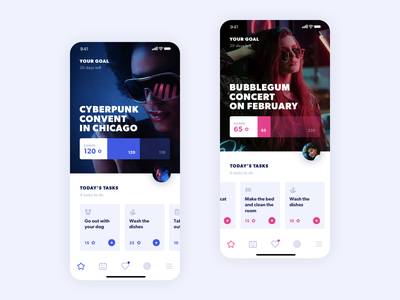 Fameily mobile ux app ui
