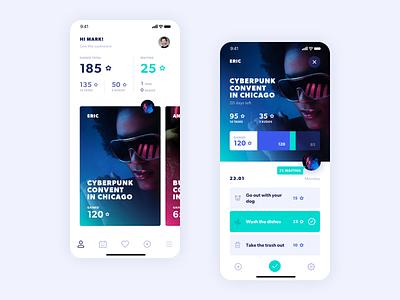 Fameily design ui ux mobile app