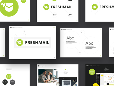 Freshmail Brand book brand identity brand book branding logo design logotype logo