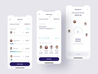 Payment Splitting app split payment payment mobile ui fintech finance banking mobile app ux ui