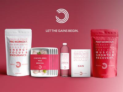Bulk Powder Packaging. food diet bulk powders protein gym typography web design branding packaging