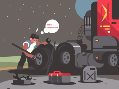 illustration for under construction web page