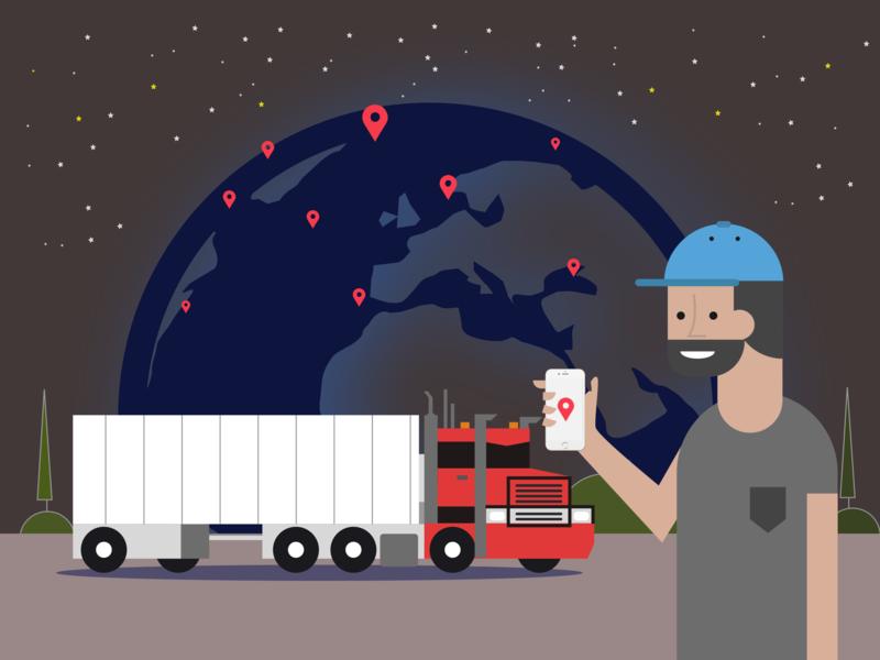 illustration for transportation management system by Nazar