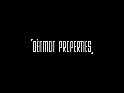 Denman Properties idendity identidad vector lettering black and white agency identity constructivism brand construction black logogrid minimal design logo grid logo grid branding typography type