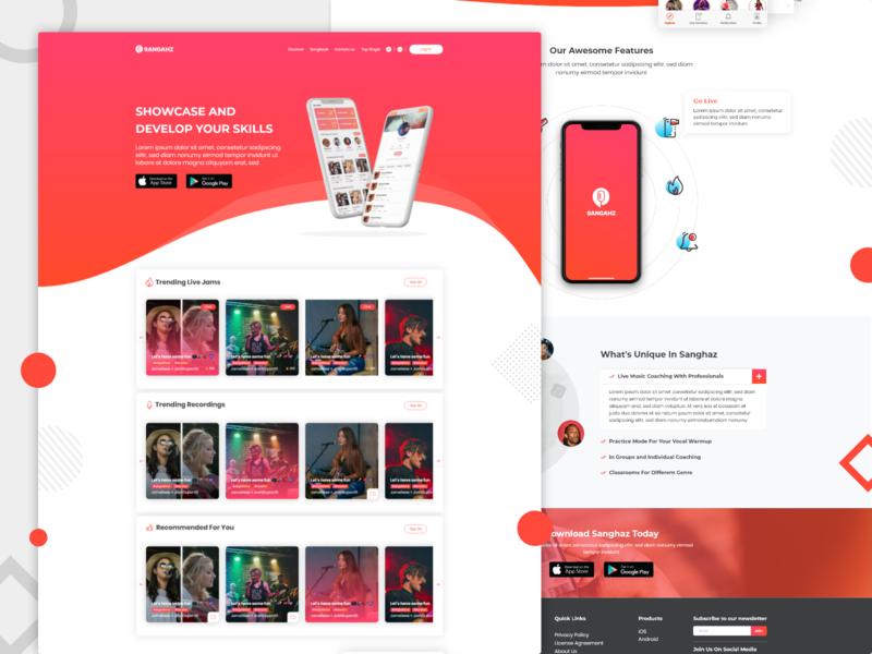 Sanghaz Online Singing Platform design sing ui design web design webdesign website user interface design uidesign