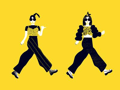 插画练习 fashion design illustration