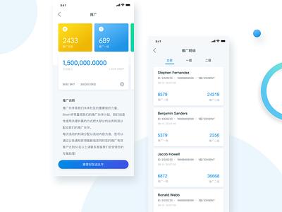 Btwin ux virtual coin blockchain gold mine brand ui