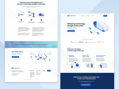 Tech Company Landing Page | Simple Cloud ux ui tech cloud computing landing page technology