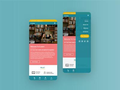E-learning Mobile Design illustrator website vector figmadesign figma app illustration ux ui web design