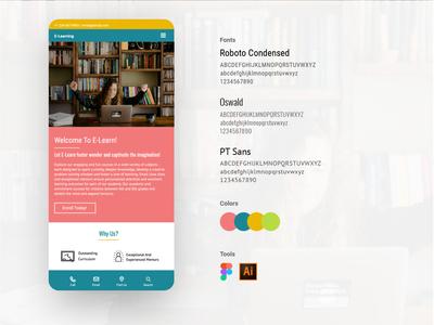 E-learning Design Breakdown website illustrator identity web icon ux ui vector illustration design