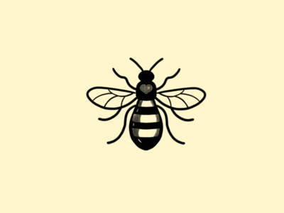 Manchester Bee manchester logo icon illustration design