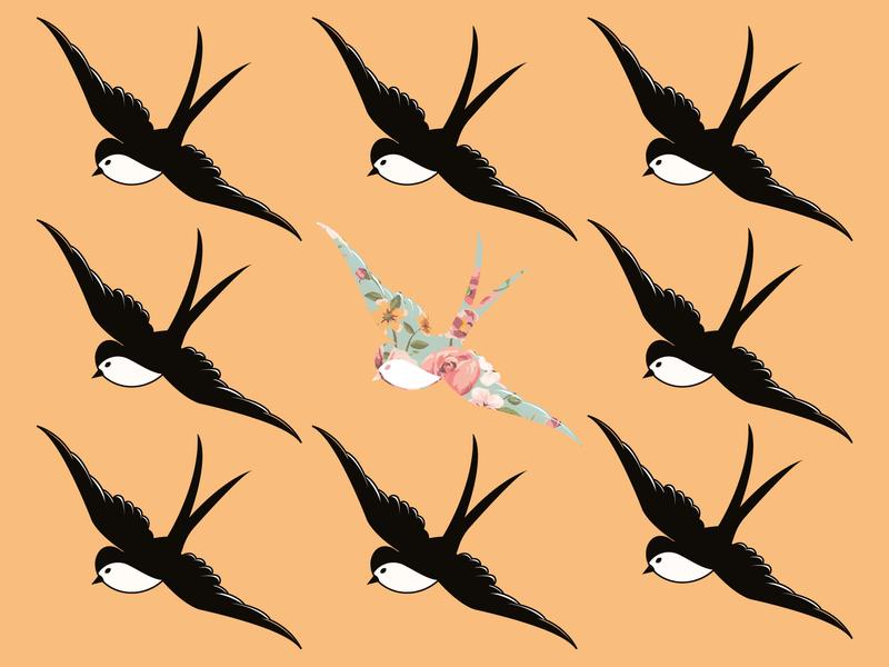 Sparrows drawing website doodleart illustrator adobe identity cartoon minimal icon web cawfeehaus branding flat vector illustration design