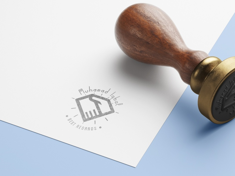 Stamp for sign my duty call.. cuco aiiihh blender c4d logo vector ui illustration