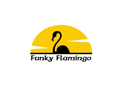 Flamingooo cool colors cool flyer cool design clean fun art funk animal art 2018 lounge brand animals funky logo