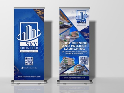 Sky Frontier Floor Standing Tarps ooh advertisement poster tarps graphicdesign graphic design branding design