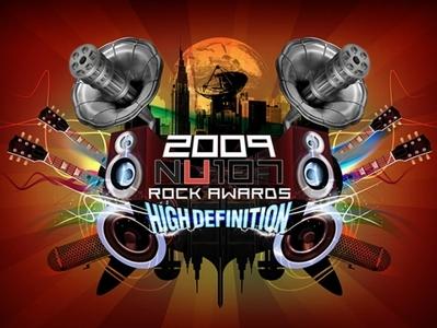 NU107 Rock Awards Logo 2009
