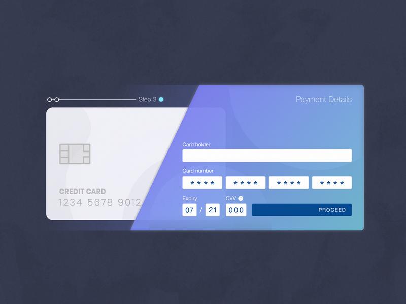 DailyUI - 002 - Credit card checkout vector interfaces adobe xd gradient ui interface minimal design dailyui 002 dailyui