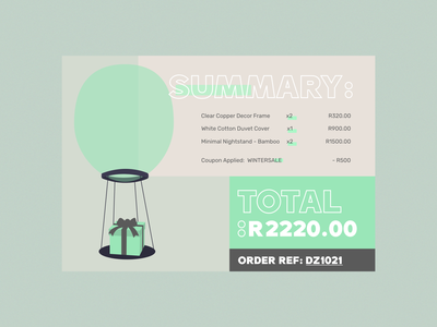 DailyUI - 017 - Email reciept