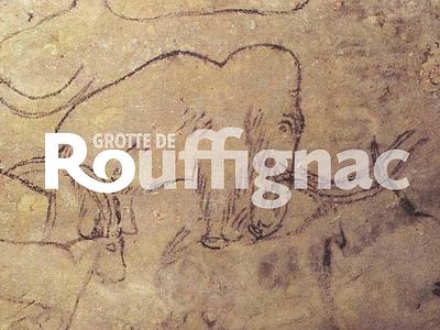 Grotte de Rouffignac typography design branding logo