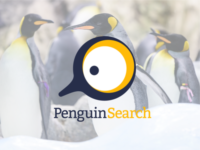 PenguinSearch penguin design branding logo