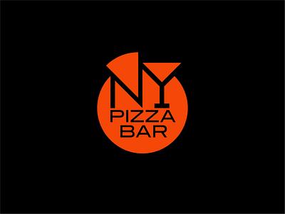NewYork Pizza Bar bar pizza logo pizza design branding logo