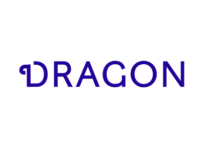 DRAGON typography dragon design logo