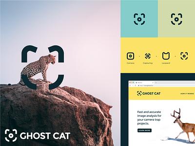 Ghost Cat camera animal wildlife design branding logo