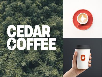 Cedar Coffee identitydesign visualidentity logodesign coffee logo cafe logo typography design branding logo