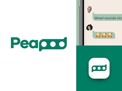 Peapod wordmark logotype identitydesign visual identity logodesign icon branding logo design logo