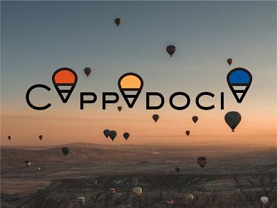 Cappadocia logo turkish turkey logo design travel funny cappadocia wordmark typography design logo